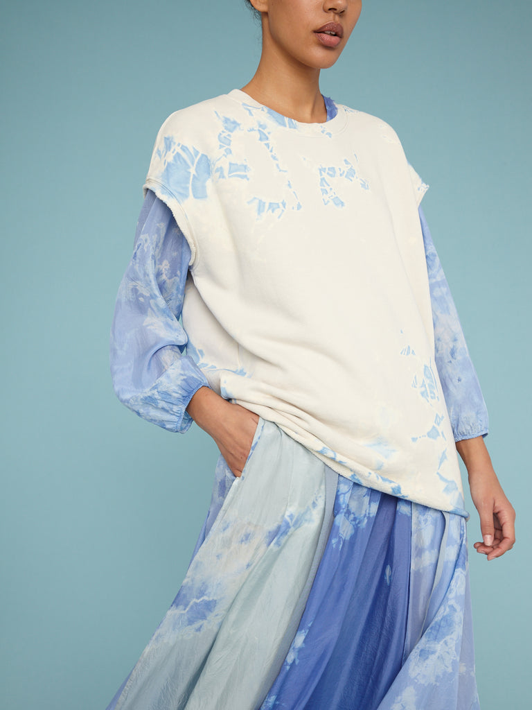 Cloud Blue Cutoff Oversize Sweatshirt