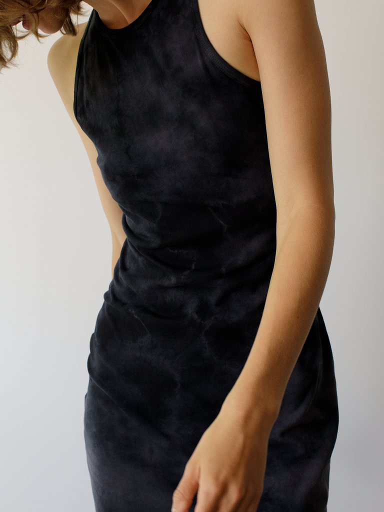 Black Jersey Racerback Dress