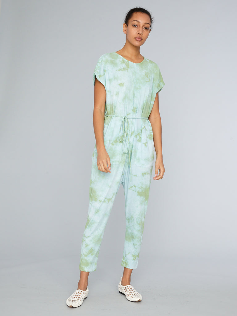 Blue Mint Jersey Jumpsuit