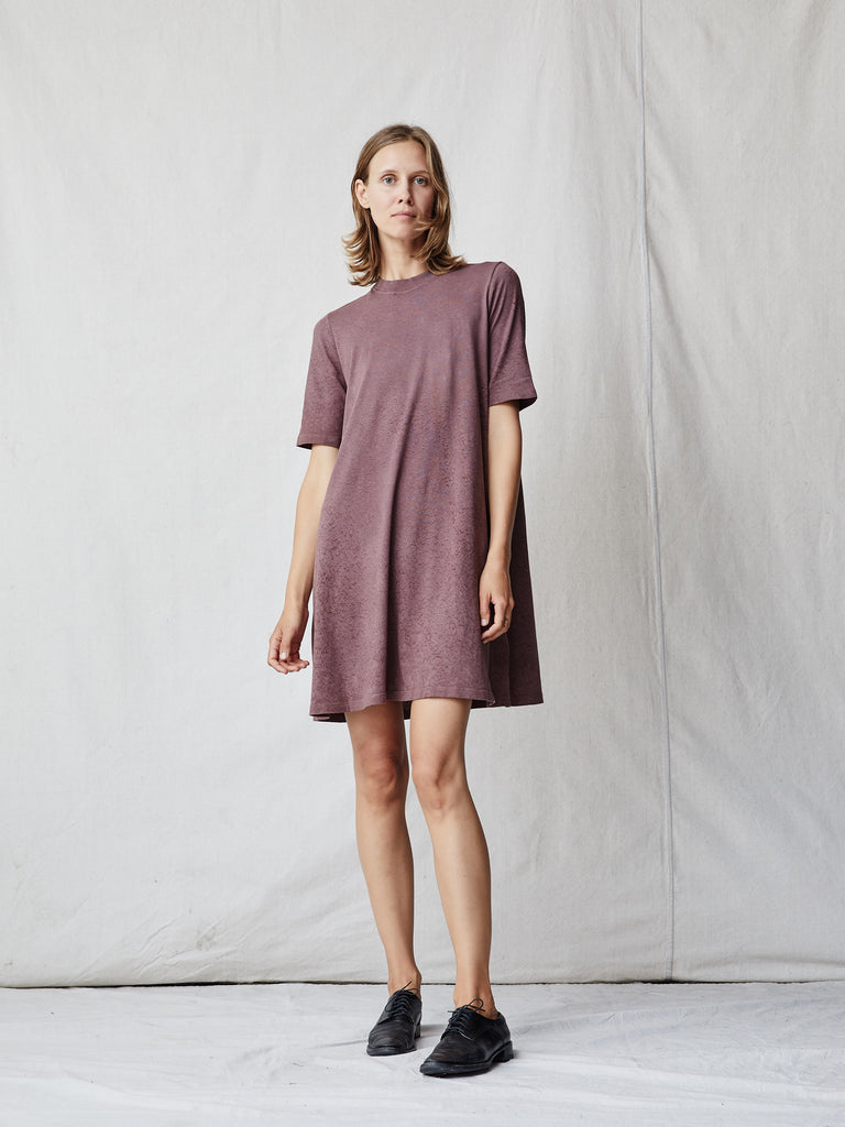 Dark Blush Jersey Mod Dress