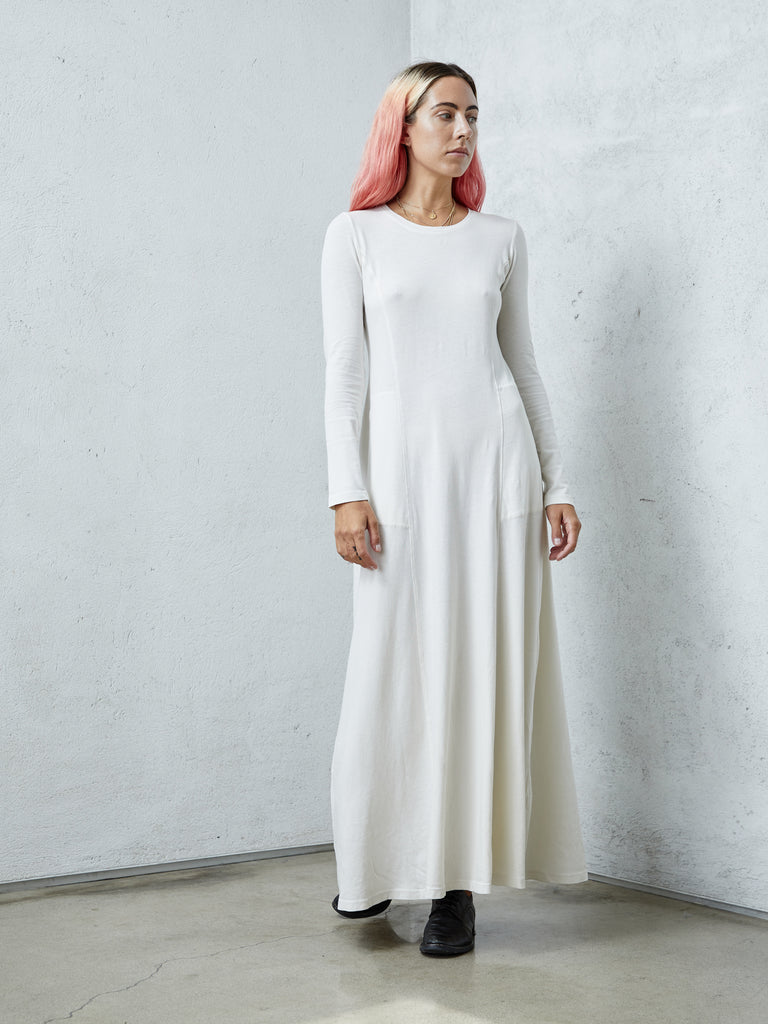 Dirty White Jersey Rhea Dress