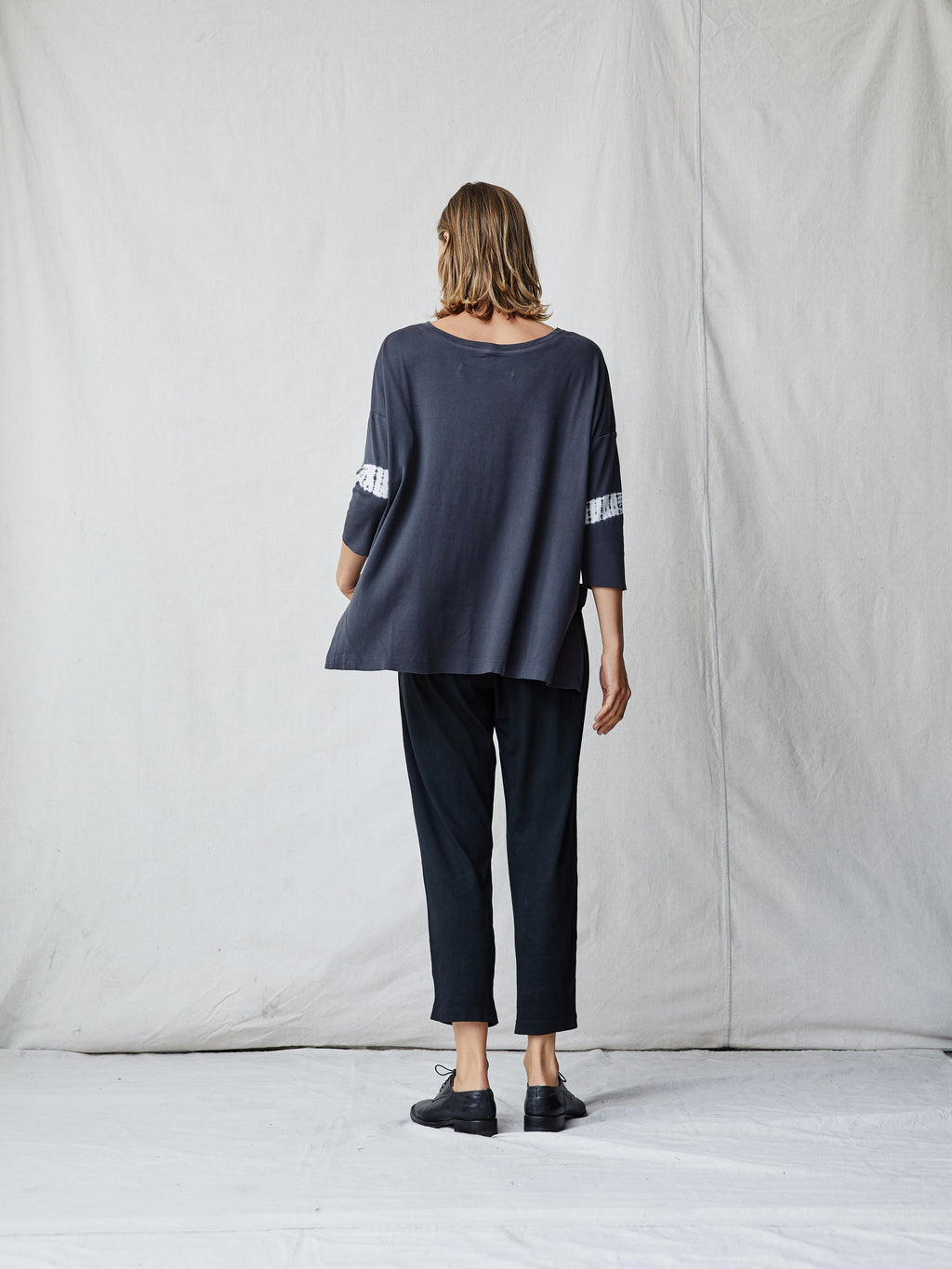 Charcoal Cotton Cocoon Shirt