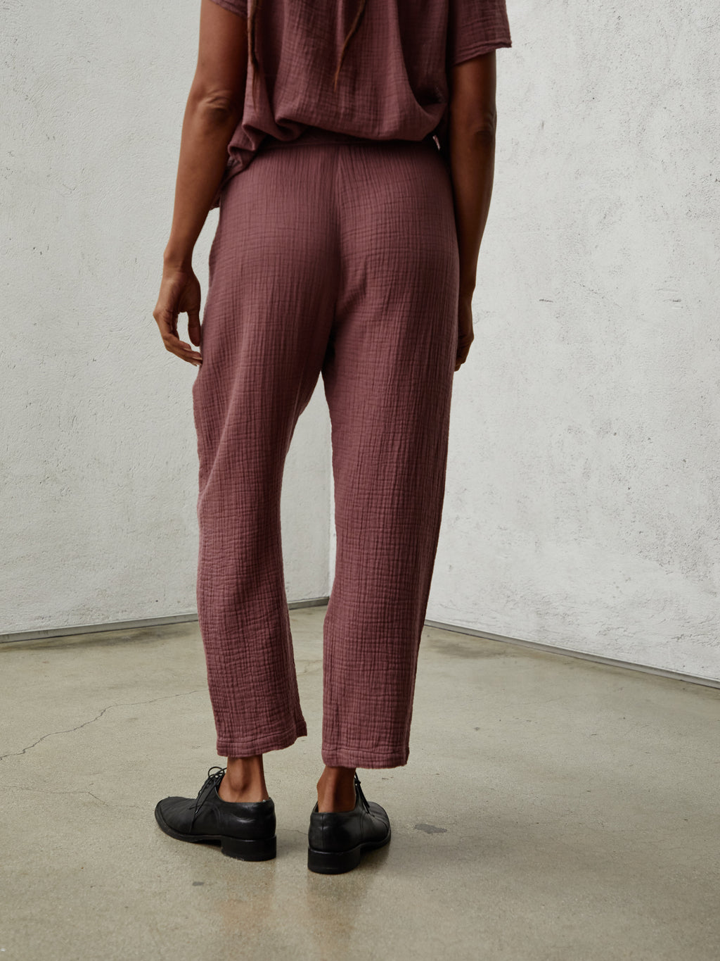 Dark Blush Gauze Medley Easy Pant