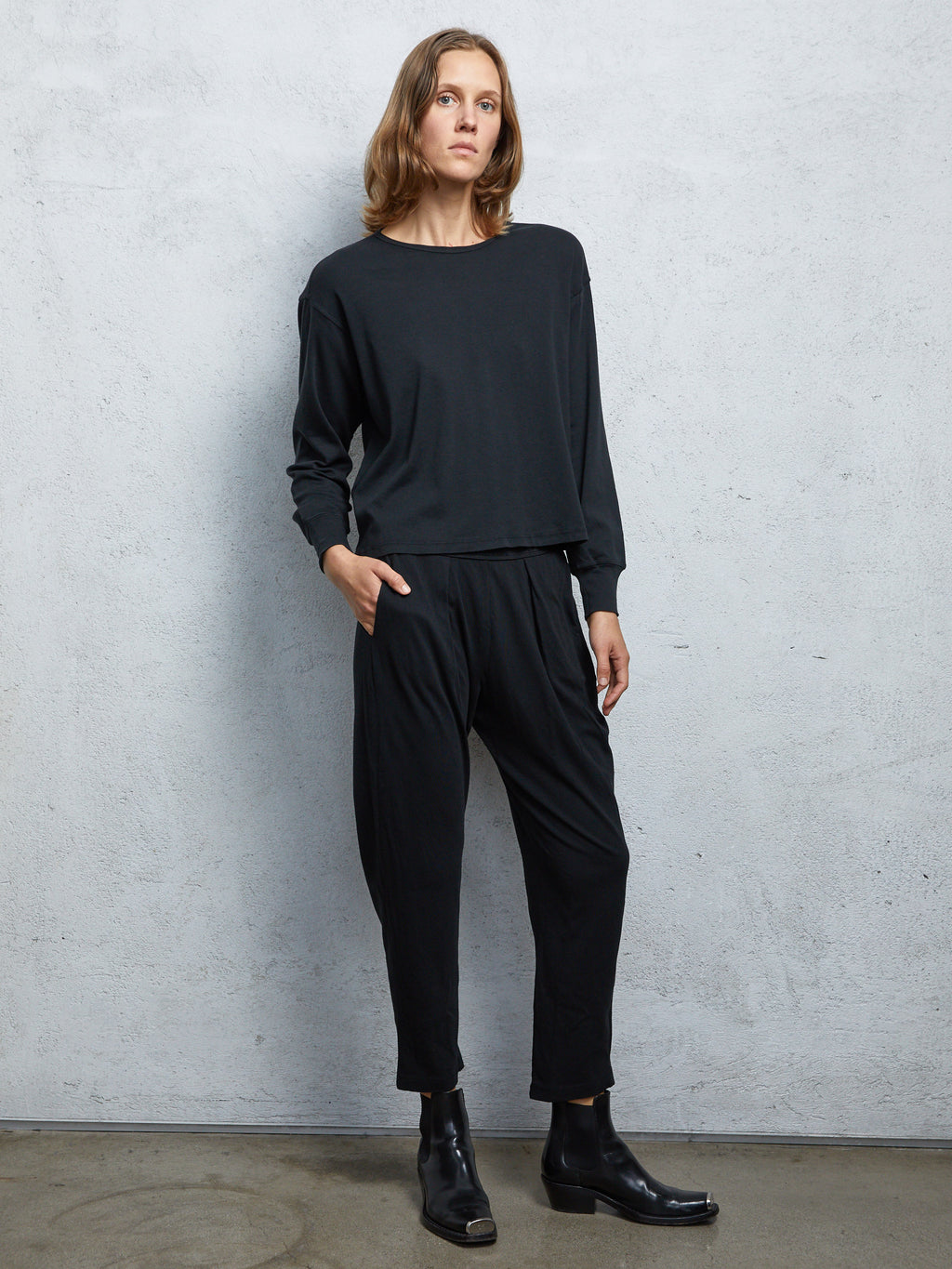 Black Jersey  Easy Pant