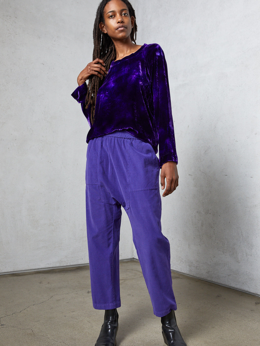 Violet Light Corduroy Sunday Pant