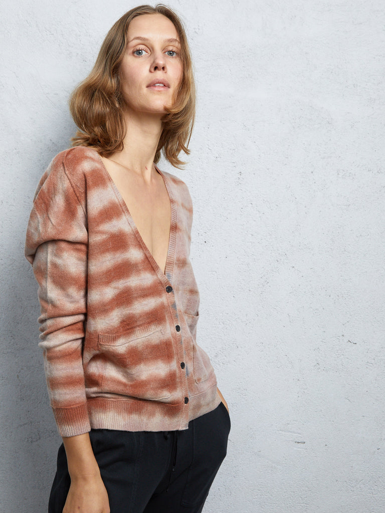 Tiger Cashmere V Neck Cardigan