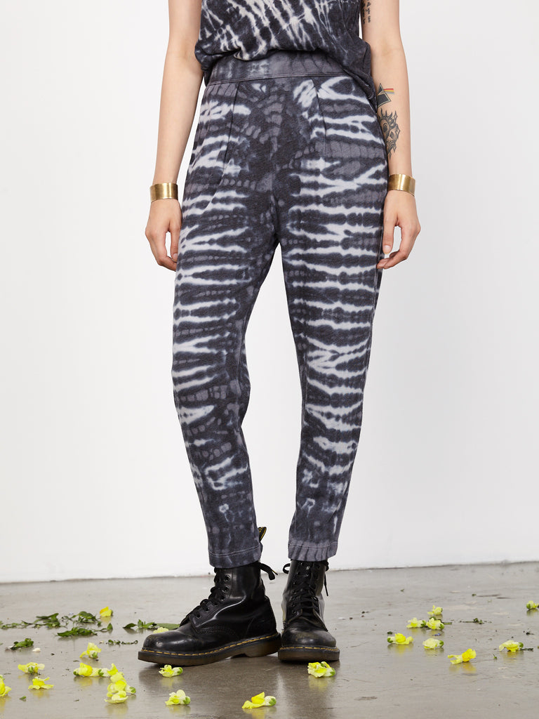 Charcoal Tie Dye Jersey Easy Pant