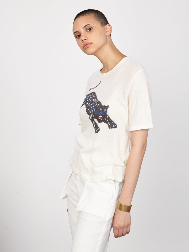 Dirty White Tiger Jersey Boxy Tee
