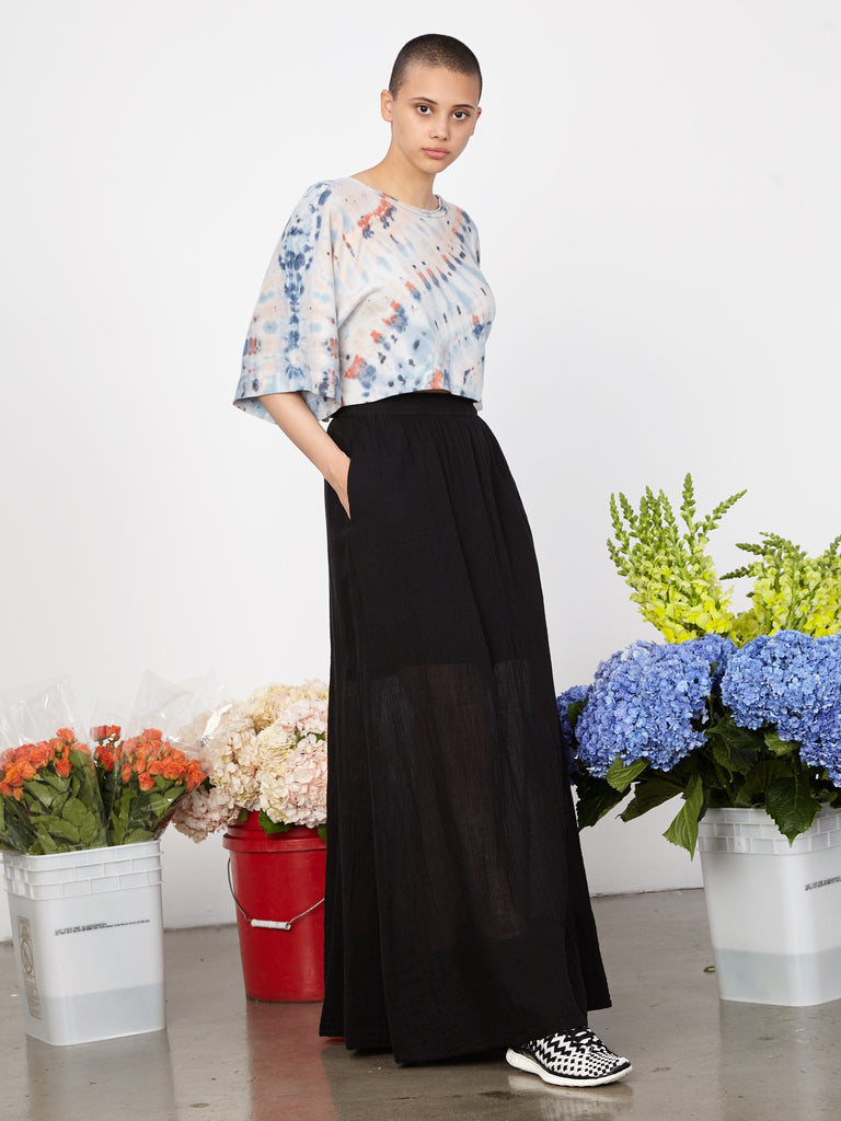 Black Gauze Maxi Skirt