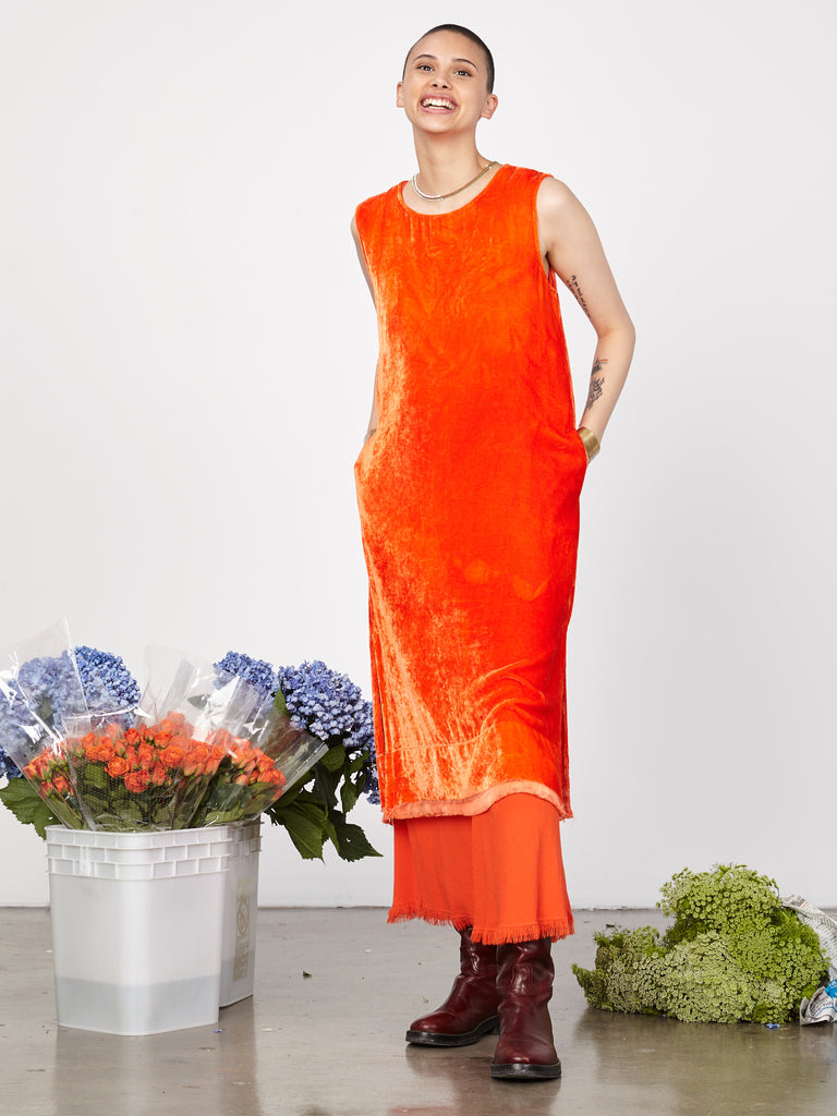 Persimmon Velvet Shell Dress
