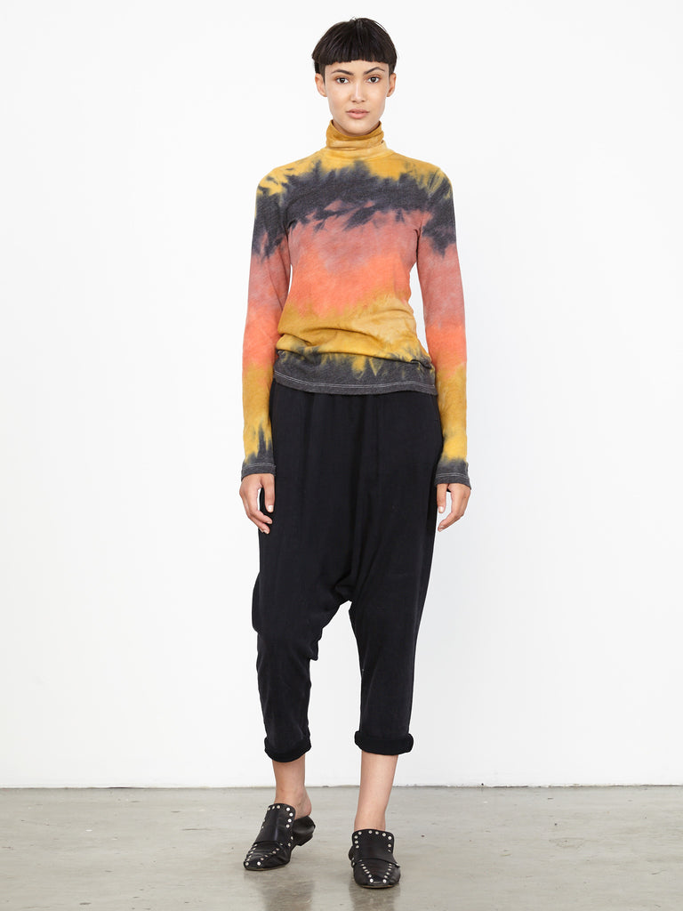 Lava Tie Dye Jersey Long Sleeve Turtleneck