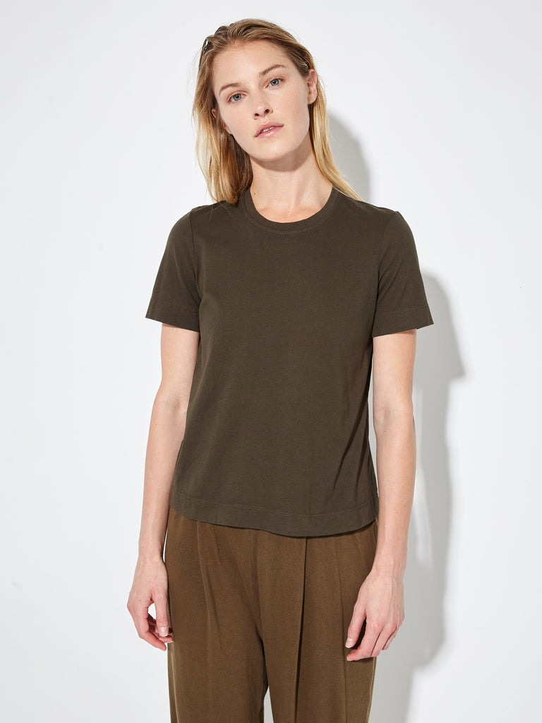 Olive Sueded Baby Jersey Boy Tee