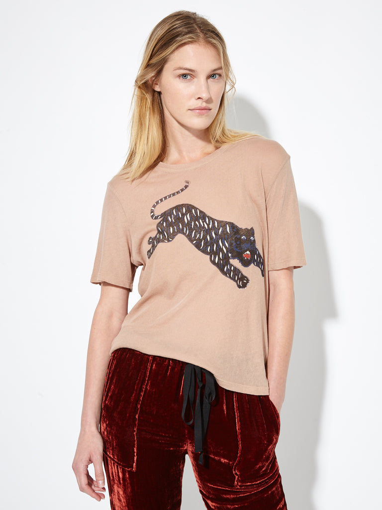 Nude Tiger Jersey Boxy Tee