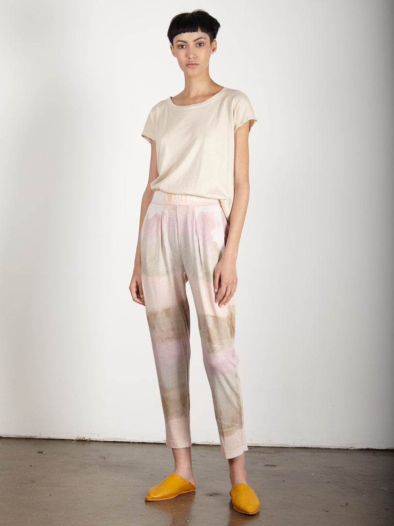 DESERT BLUSH SIGNATURE JERSEY EASY PANT