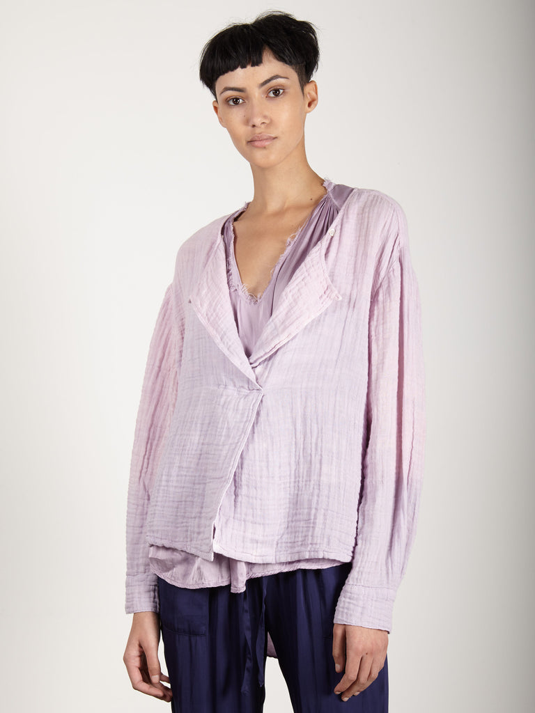 LILAC GAUZE BOXY DAY BLOUSE