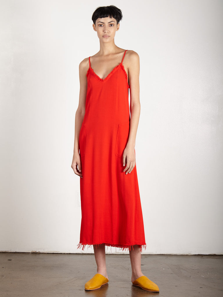 POPPY CREPE V CAMI DRESS