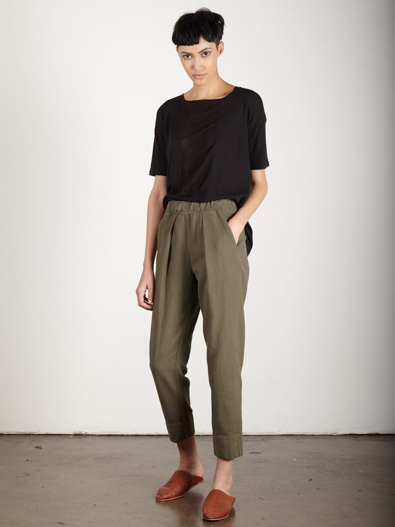 CARGO RAW COTTON EASY PANT
