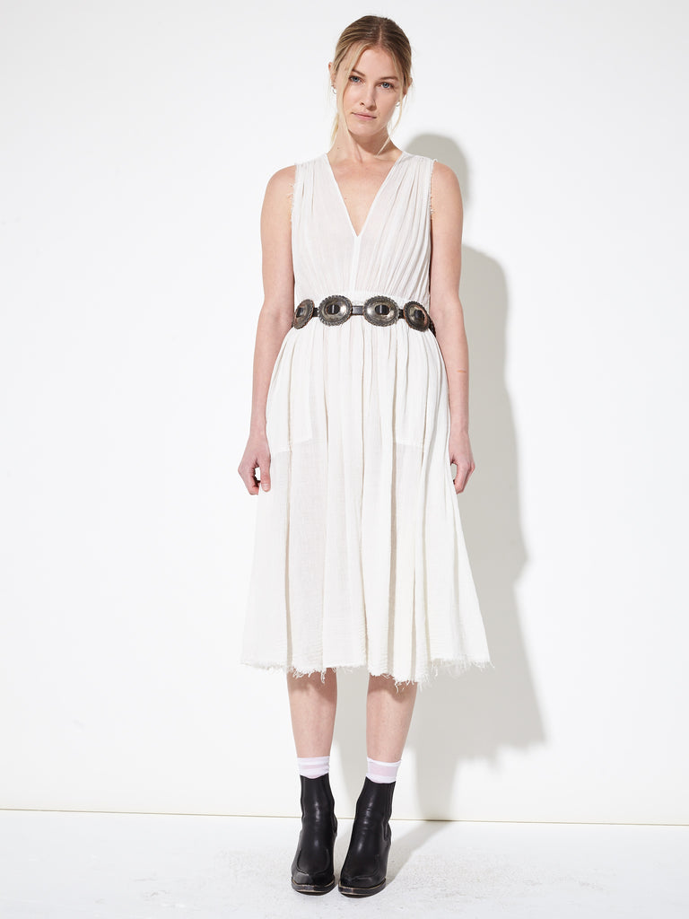 Dirty White Gauze Desert Dress