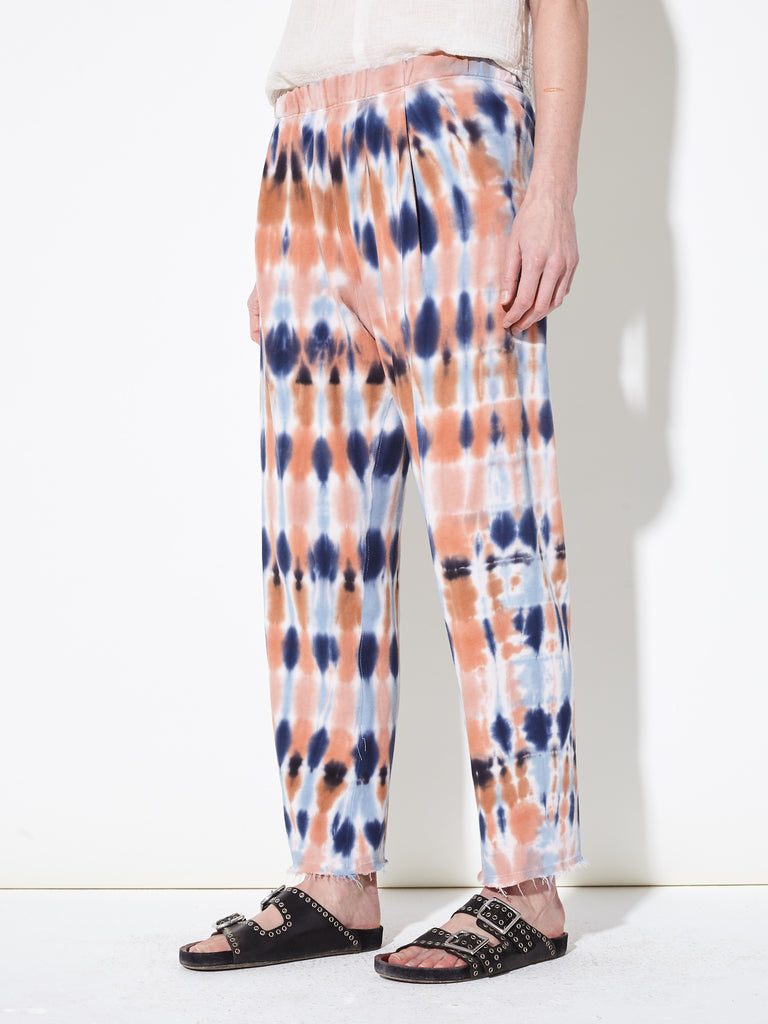 Blue Tiger's Eye French Terry Cropped Sweatpant
