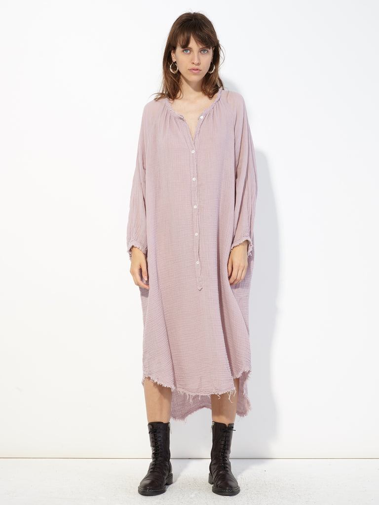 Lilac Gauze Poet Dress
