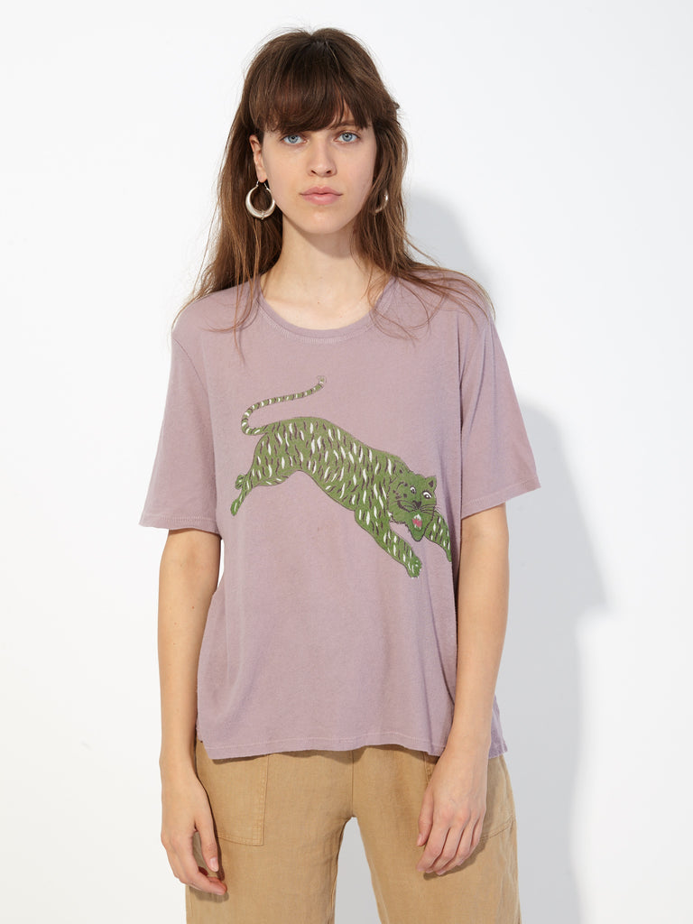 Lilac Tiger Jersey Boxy Tee