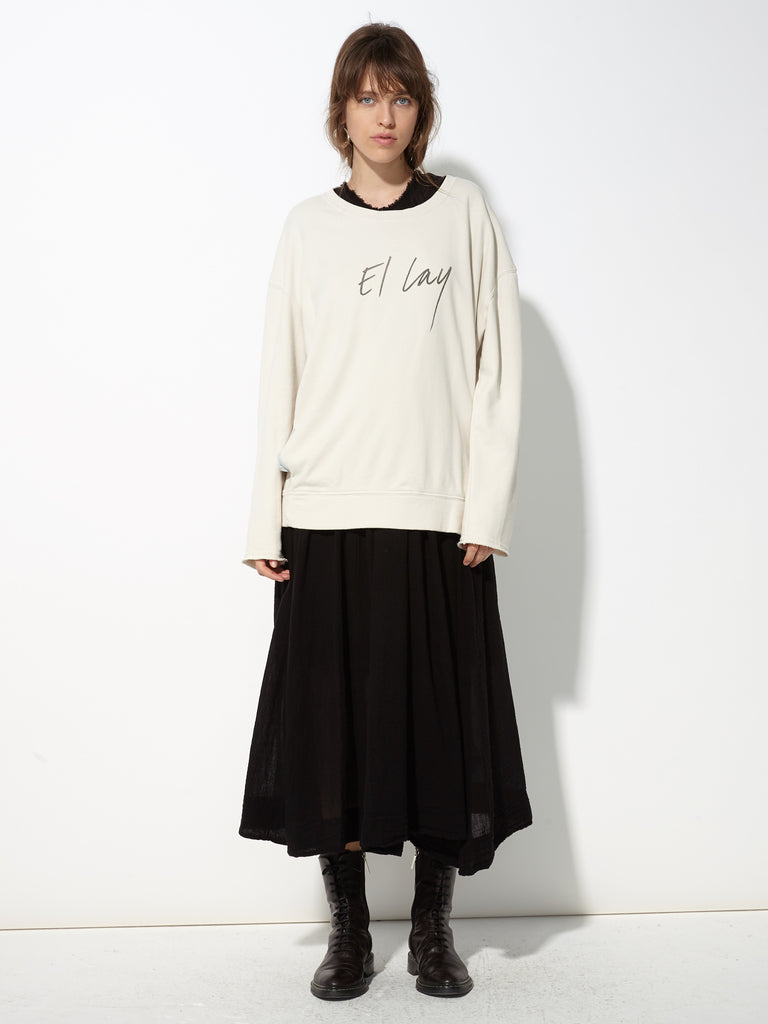 Dirty White French Terry Roomy Sweatshirt