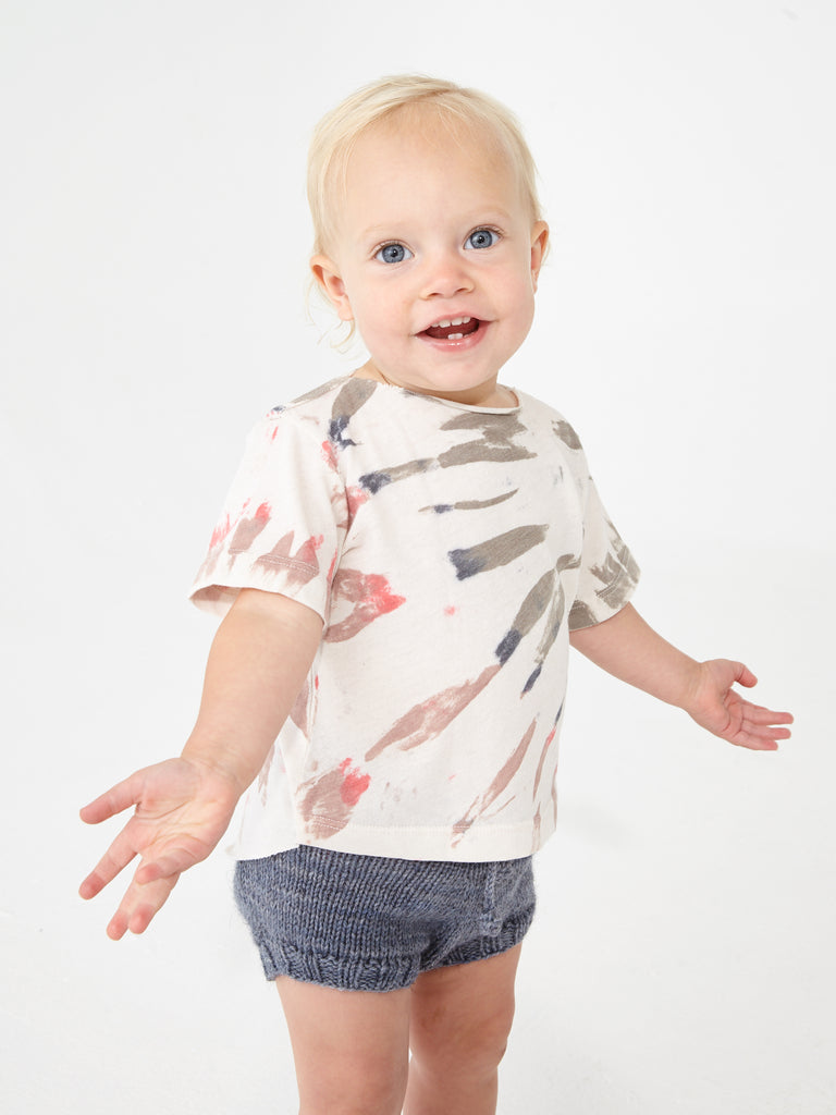 White Mountain Tie Dye Jersey Short Sleeve Baby Tee