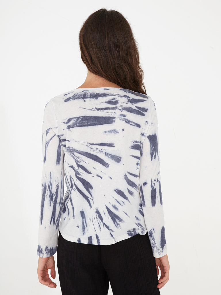 Blue River Tie Dye Jersey Shred Front Long Sleeve