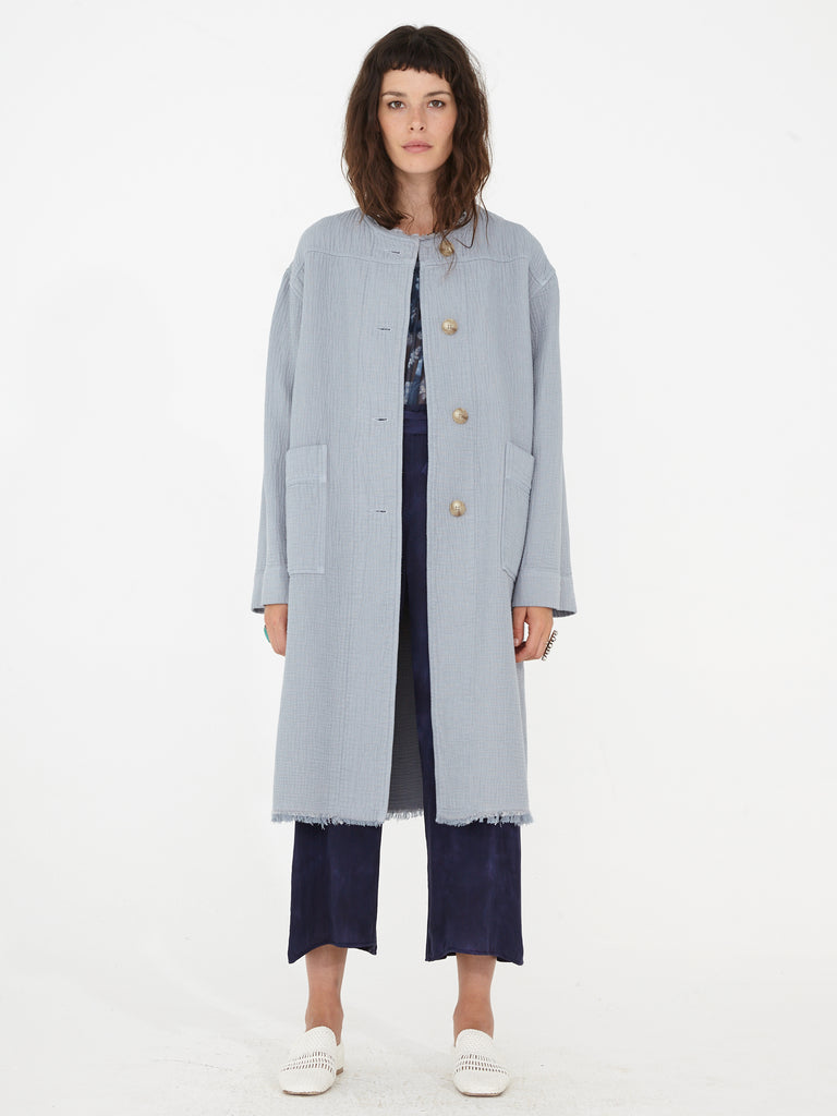 Dusty Sky Dual Canvas Cocoon Coat