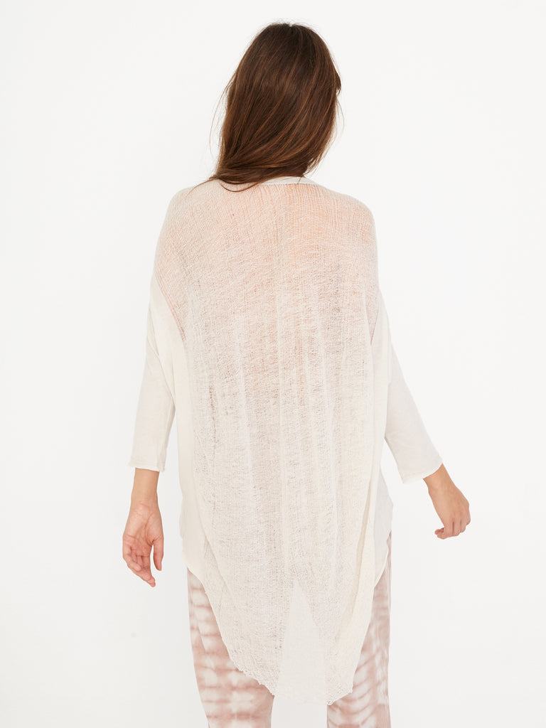 Dirty White Signature Jersey 3/4 Sleeve Cocoon