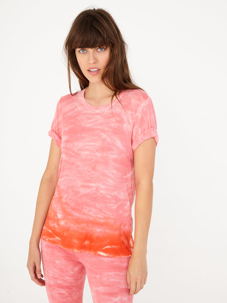 Grapefruit Cotton Crochet Jersey Boxy Tee