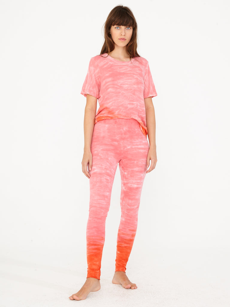 Grapefruit Sueded Baby Jersey Legging