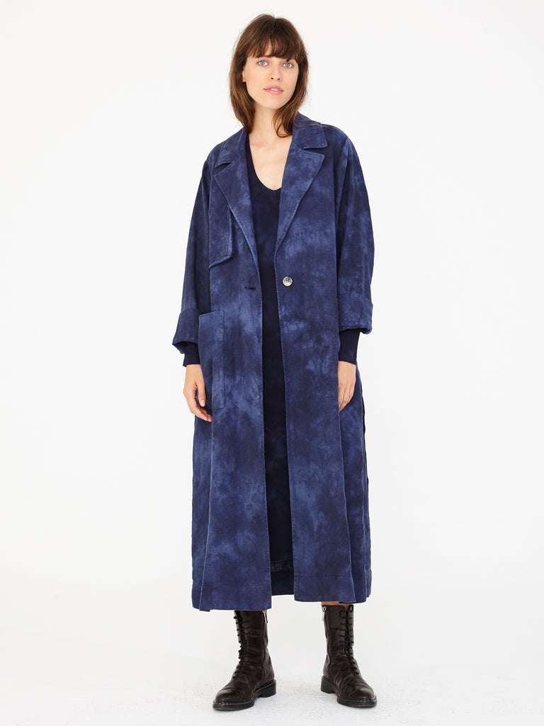 Night Sky Linen Trench