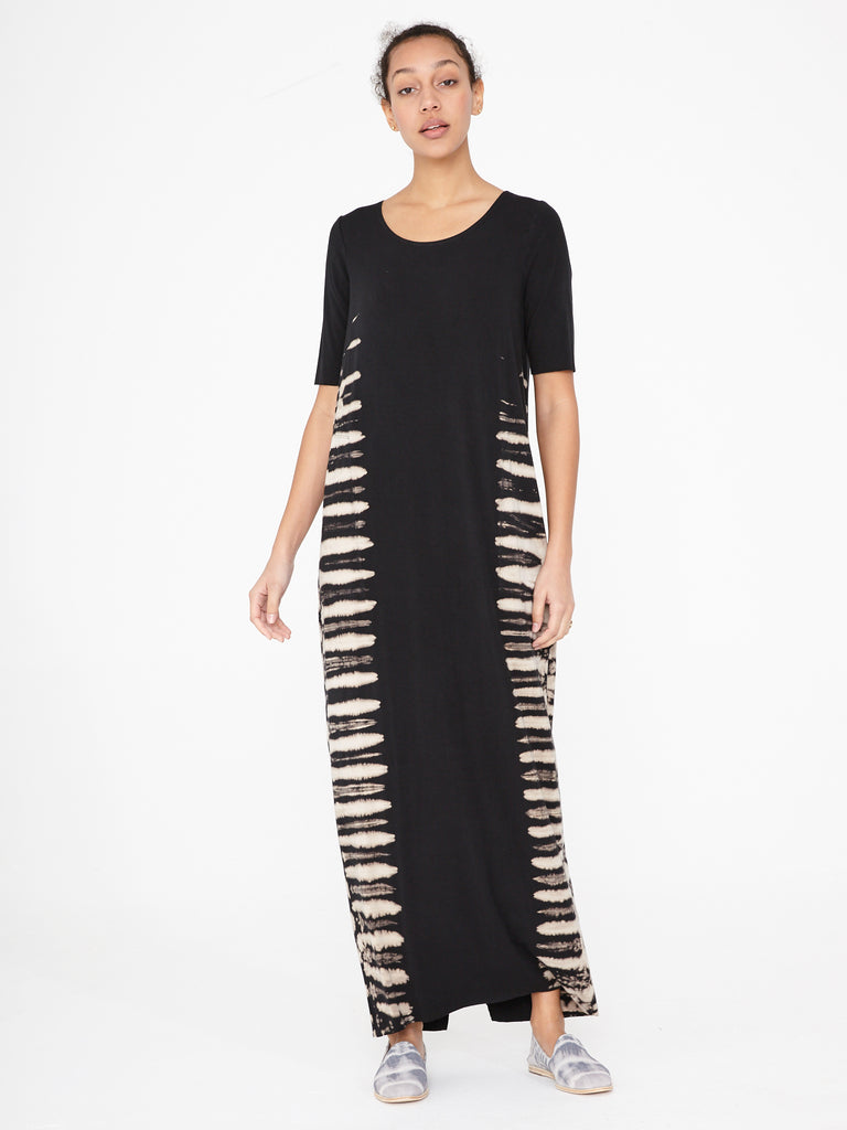 Black Earth Jersey Column Dress