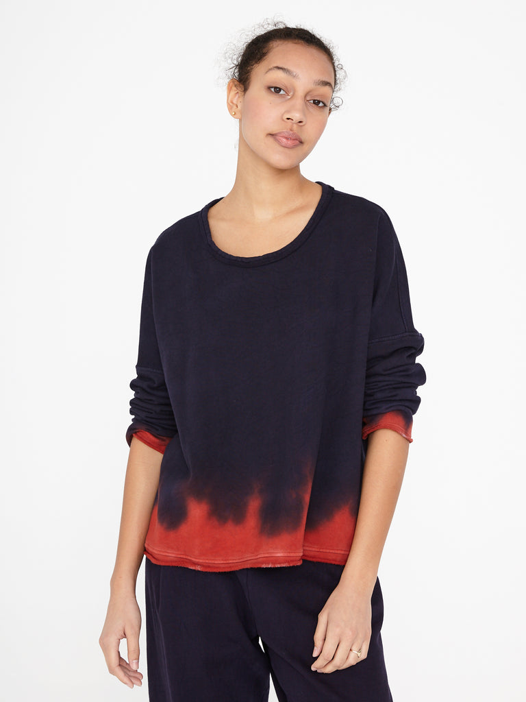 Night Shade Fleece Boxy Sweatshirt