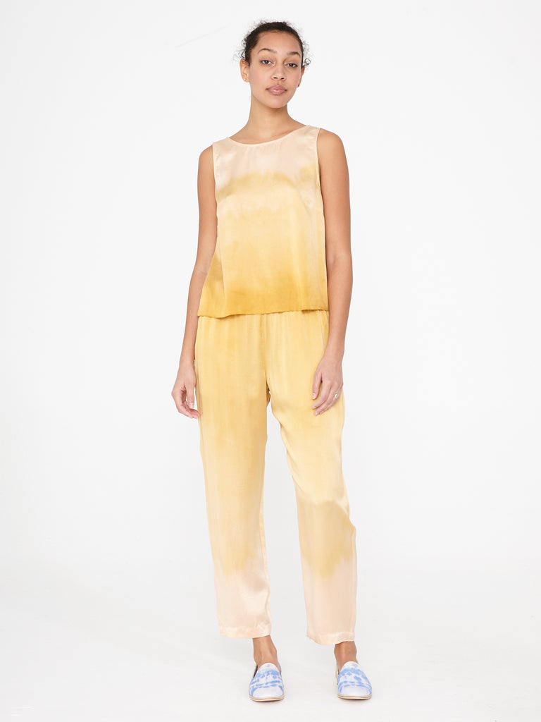 Golden Sun Charmeuse Ankle Pant