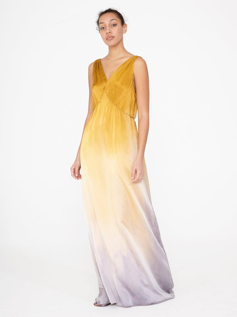 Golden Sun Charmeuse Kate Slip Dress