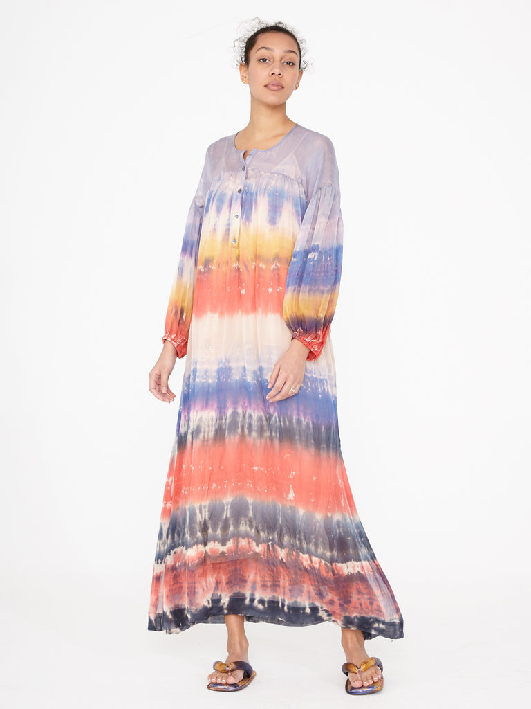 Peach Rainbow Poet Dress