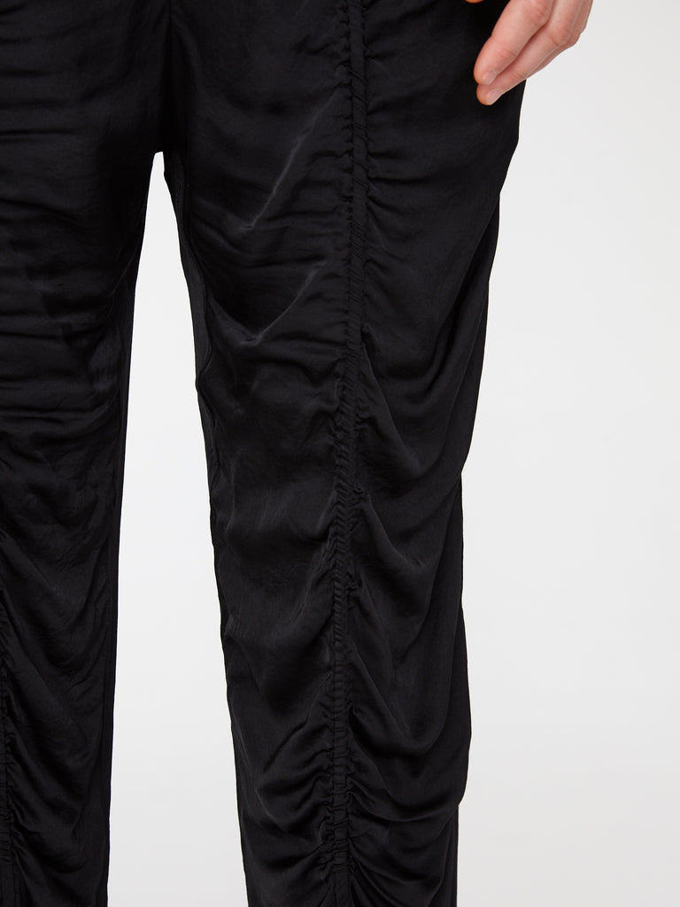 Black Matte Satin Flight Pants