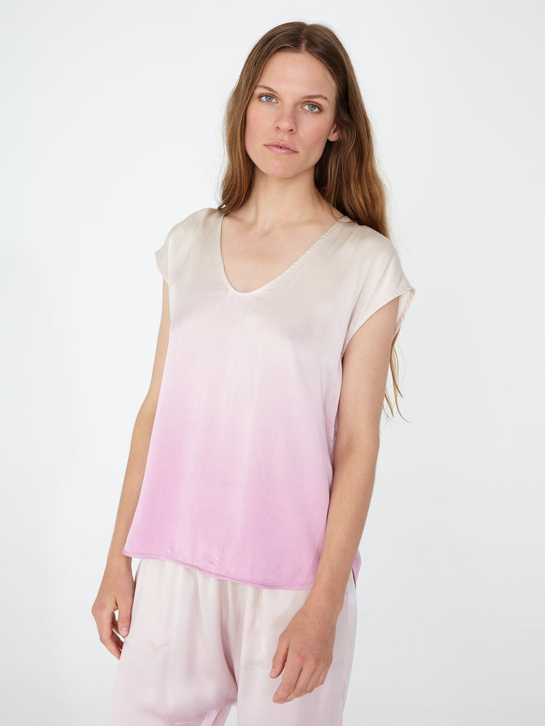 Orchid Charmeuse Perfect Shell Top