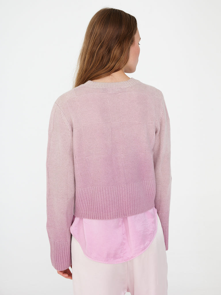 Orchid Cashmere Cropped Crew