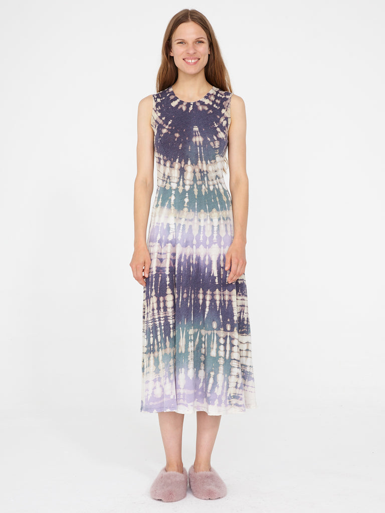 Violet Jersey Big Sweep Midi Dress
