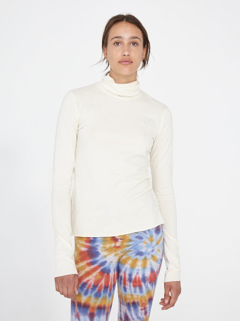 Cream Jersey Turtleneck