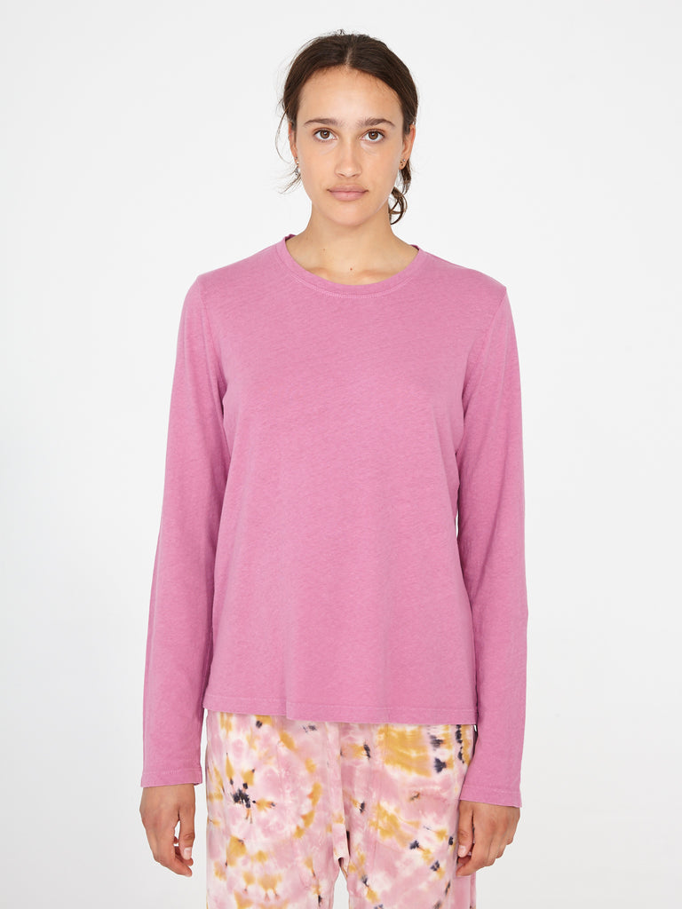Sunrise Nubby Cotton Long Sleeve Crew
