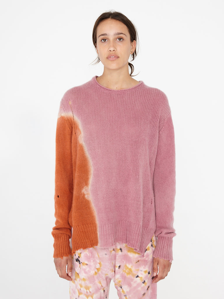 Pink Sunrise Cashmere Relaxed Crew