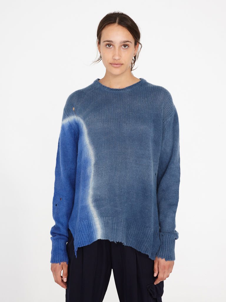 Sky Cashmere Relaxed Crew