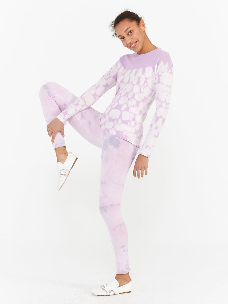 Lavender Sueded Baby Jersey Legging