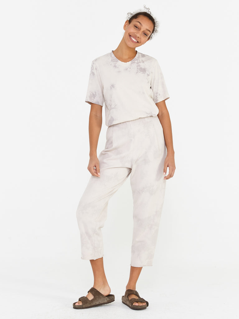 Tea Stain Fleece Tie Dye Cropped Sweatpant