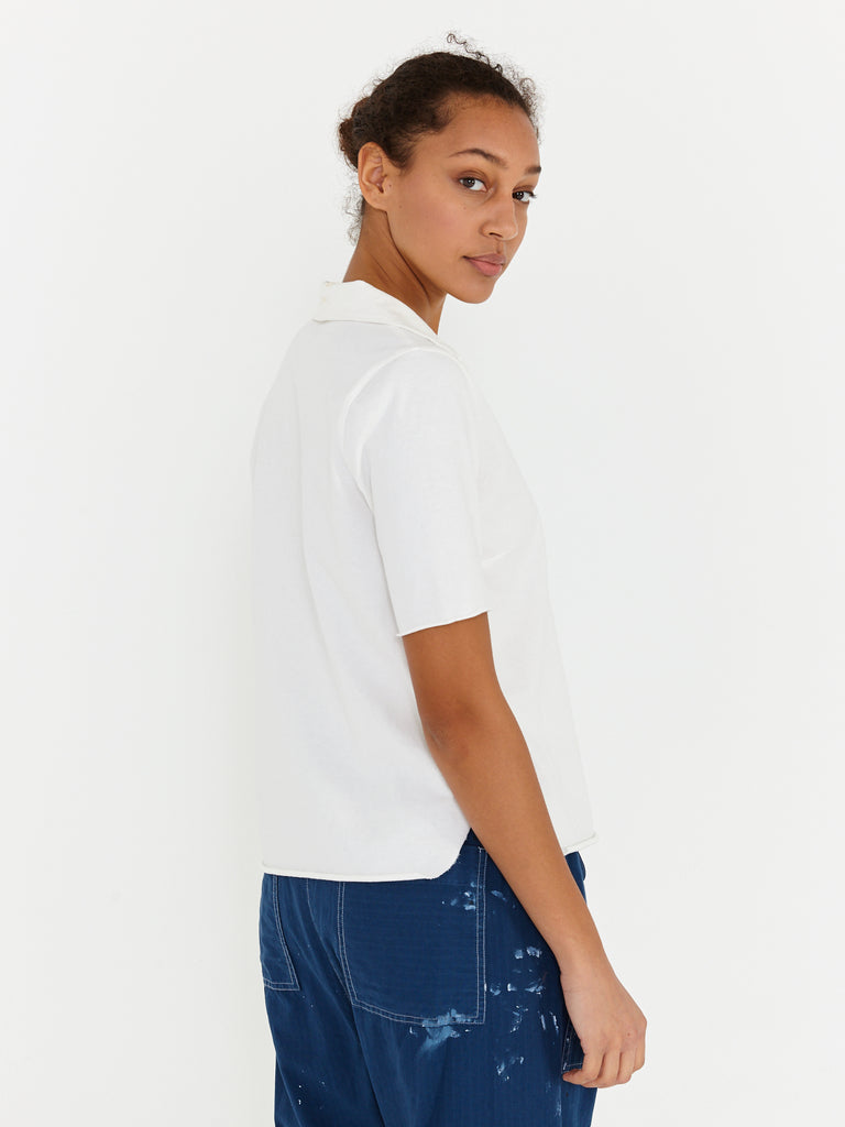 Ivory Tailoring Jersey Pop Over Polo