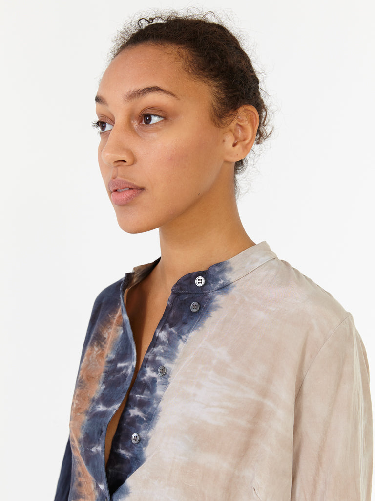 Caves Tie Dye Henley Tunic Dress